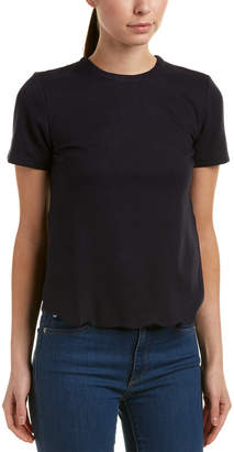 Olivaceous Scalloped Top