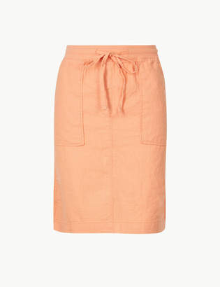 Marks and Spencer Linen Rich A-Line Mini Skirt