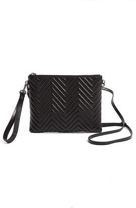 WtR - Black Quilted Leather Cross Body Bag