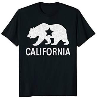 California Republic Vintage Distressed Bear T Shirt