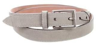 Gucci Suede Buckle Belt grey Suede Buckle Belt