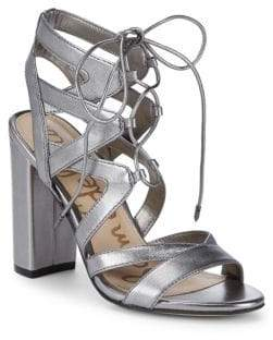 Sam Edelman Yardly Metallic Leather Ankle Strap Sandals