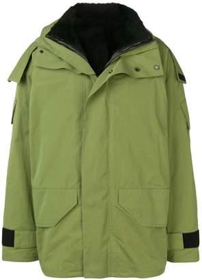 Army hooded rain jacket