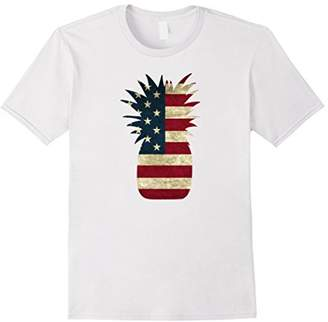 Pineapple Shirt American Flag Independence Day 4th of July