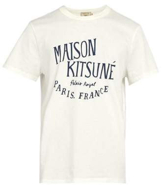 MAISON KITSUNÉ Palais Royal Logo Print Cotton T Shirt - Mens - White
