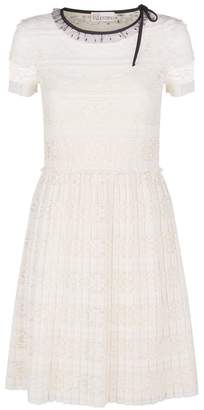 RED Valentino Pleated Lace Dress