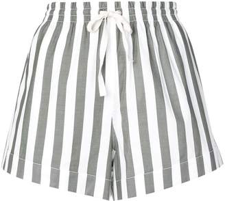 Monse striped canvas shorts