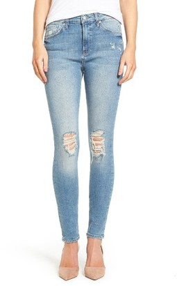 Women's Mavi Jeans Lucy Ripped High Waist Stretch Skinny Jeans $118 thestylecure.com