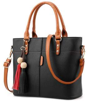 At Canada H Tavel Lady Women S Soft Leather Top Handle Handbags Work Place Shoulder Tote Bag