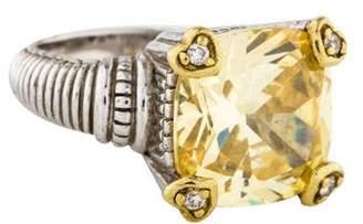 Judith Ripka Canary Crystal & Diamond Fontaine Ring