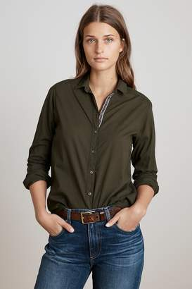 Velvet by Graham & Spencer CANDRA COTTON BUTTON UP TOP