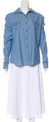 Preen Line Collar Button-Up Top