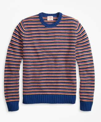 Brooks Brothers Feeder Stripe Crewneck Sweater