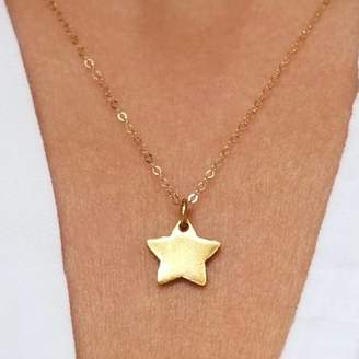 Gracie Collins Personalised Gold Star Necklace Birthday Gift