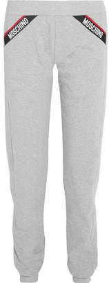 Moschino Cotton-blend Fleece Track Pants