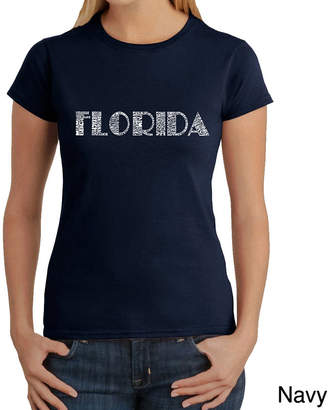 LOS ANGELES POP ART Los Angeles Pop Art Popular Cities In Florida Graphic T-Shirt