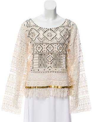 Camilla Guipure Lace Long Sleeve Top