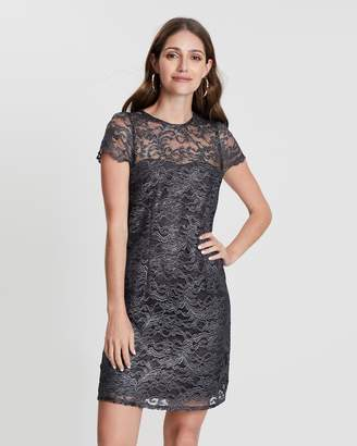 Dorothy Perkins Metallic Lace Shift Dress