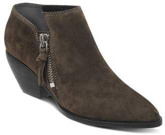 Sigerson Morrison Women's Hannah Pointed Toe Western Suede Ankle Booties