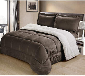 Cathay Home Inc. Ultimate Luxury Reversible Micromink and Sherpa Twin Bedding Comforter Set Bedding