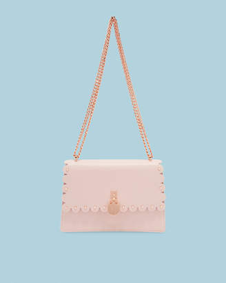 Ted Baker HOLLIEE Scallop leather padlock cross body bag