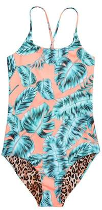 Seafolly Native Jungle Reversible One-Piece Swimsuit