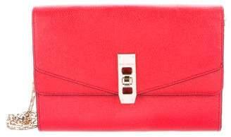 Henri Bendel Leather Chain-Link Shoulder Bag