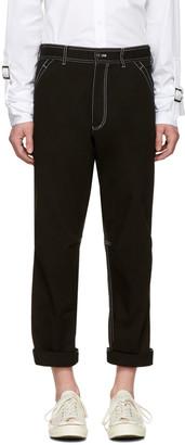 Comme des Garçons Shirt Black Workstitch Trousers $645 thestylecure.com
