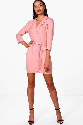 boohoo Daisy Tailored Belted Dress