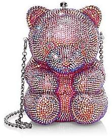 Judith Leiber Couture Couture Women's Gummy Teddy Bear Crystal Clutch