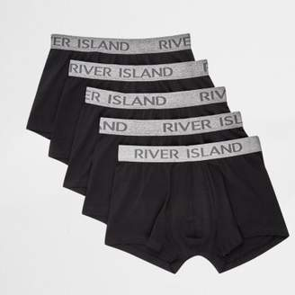 River Island Black and grey RI hipster boxers multipack