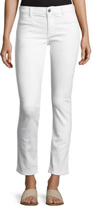 MiH Jeans Paris Stagger-Hem Skinny Jeans, White
