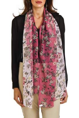 Violet Del Mar Flower Summer Scarf