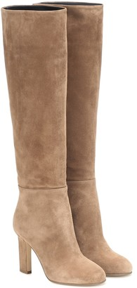 Victoria Beckham Suede over-the-knee boots