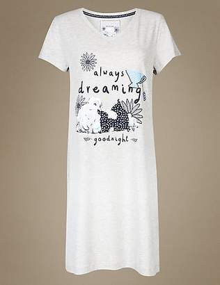 Tatty Teddy Cotton Rich Printed Short Nightdress