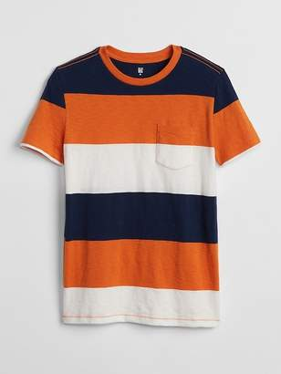 Gap Stripe Pocket T-Shirt