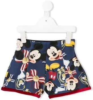 MonnaLisa Mickey Mouse printed shorts