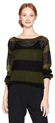 Pam & Gela Women's Wavy Stripe Sweater