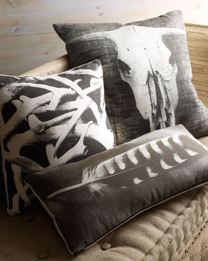 Horchow Hand-Screened Pillows