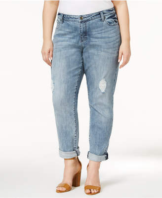Kut from the Kloth Plus Size Catherine Destructed Boyfriend Jeans $89 thestylecure.com