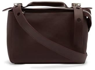 Sophie Hulme Bolt Leather Shoulder Bag - Womens - Burgundy