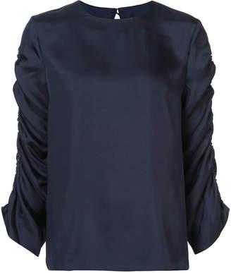 Tibi gathered sleeved blouse
