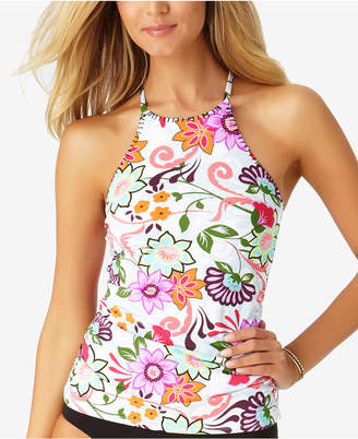 Anne Cole Fleetwood Floral-Print High-Neck Tankini Top Women's Swimsuit