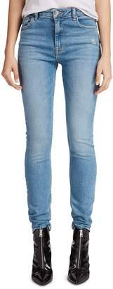 AllSaints Stilt High-Rise Skinny Jeans in Mid Indigo