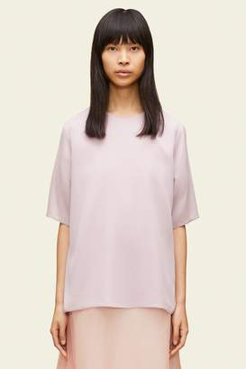 Mansur Gavriel Silk Short Sleeve Blouse