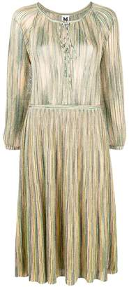 M Missoni metallic sheen mid-length dress
