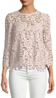 Joie Charnette Lace Cotton Blouse
