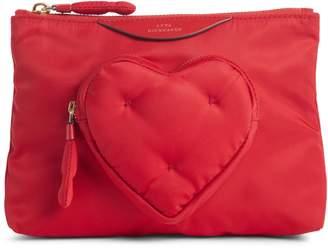 Anya Hindmarch Chubby Heart Nylon Pouch