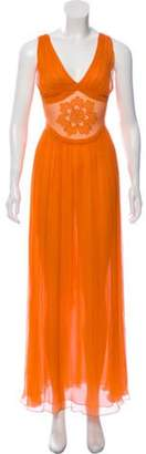 Sophie Theallet Pleated Maxi Dress Pleated Maxi Dress