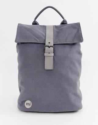 Mi-Pac Canvas Fold Top Backpack in Charcoal